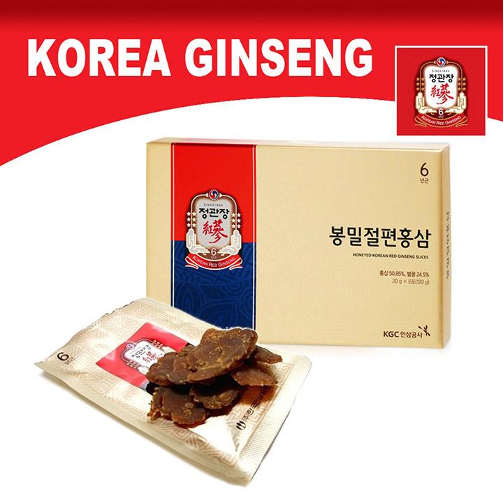 Hồng sâm thái lát Hàn Quốc hiệu sâm chính phủ KGC hộp 240g rất tốt cho sức khỏe