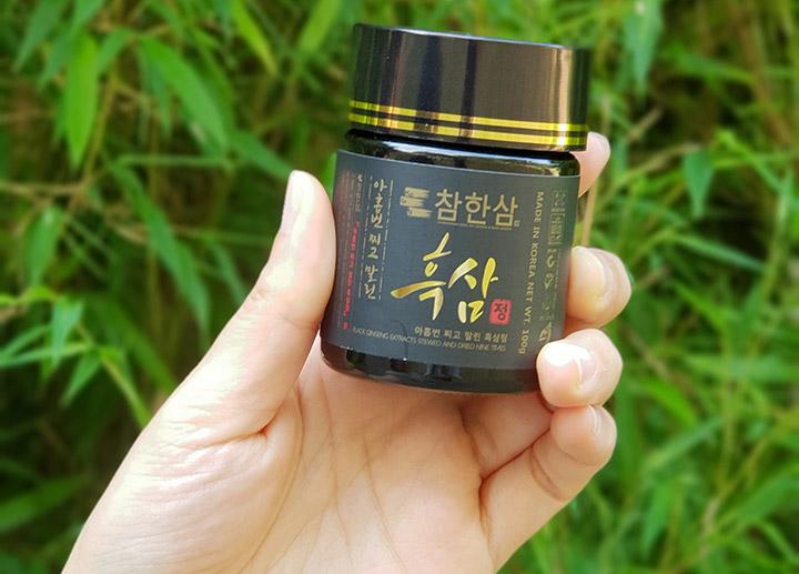 Với lọ 50g Cao hắc hồng sâm Daedong Hàn Quốc có thể sử dụng trong nữa tháng