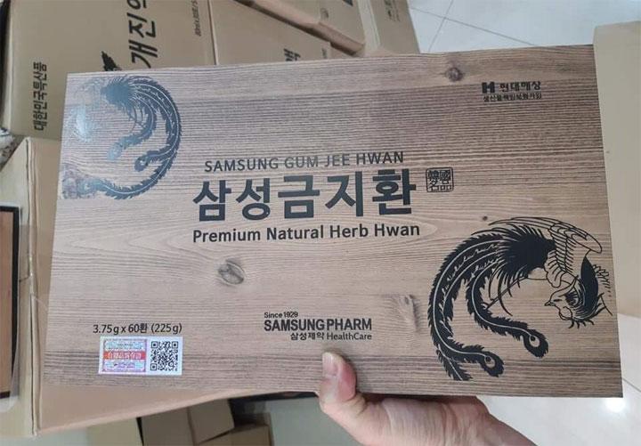 An cung ngưu hoàng hoàn hộp gỗ 60 viên thương hiệu Samsung pharm Hàn Quốc là khắc tinh đối với người tiền đình